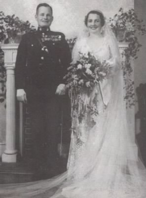 Lewis and Virginia Puller on their Wedding Day, Nov. 13, 1937