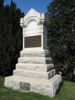 127th Pennsylvania Volunteer Monument in Fredericksburg National Cemetery