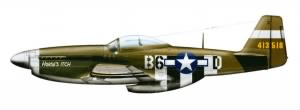 Illustration of his P-51