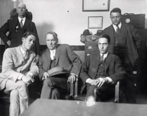 Clarence Darrow with Leopold and Loeb