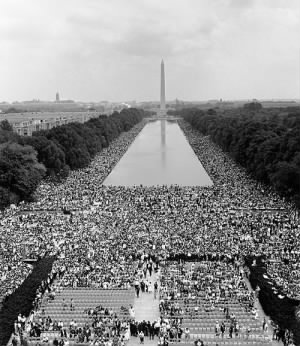 """Martin Luther King, """"I Have A Dream"""" speech at the Lincoln Memorial"""