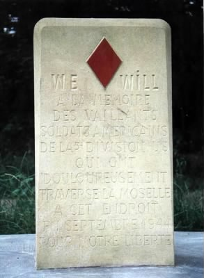 1 Monument 5th Inf Div, Corny_Dad's 1st crossing of the Moselle at Dornot.jpg