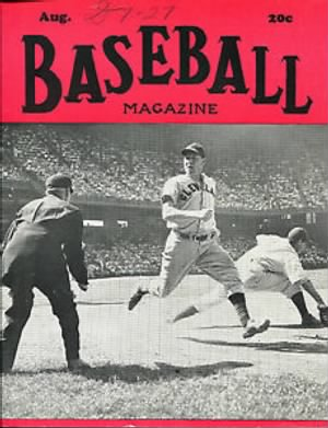 Baseball Magazine Aug 1943 on The Cover Roy Cullenbine Dick Siebert.JPG