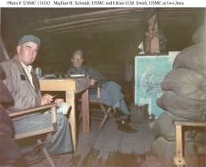 Schmidt and H. Smith, Iwo Jima.jpg