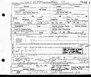 Margaret Louisa Clements 1963 TX Death Cert.jpg