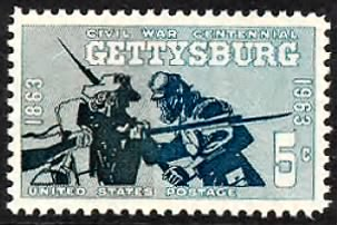 Union & Confederate soldiers at Gettysburg.gif