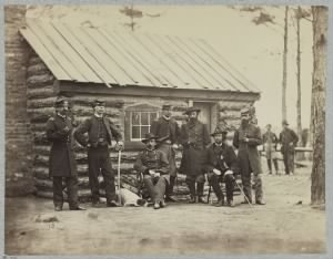 Bvt. Maj. Gen. Adelbert Ames and staff, Army of the James, Nov. 1864.jpg