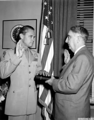 General Hoyt S. Vandenberg being administered Oath of Office as Chief of Staff.jpg