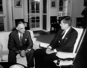 President John F. Kennedy Meets with Lucius Clay.jpg