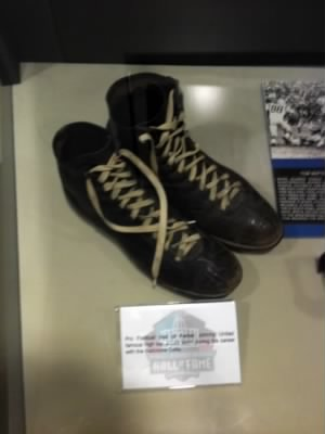 John Unitas' shoes in the Hall Of Fame.jpg