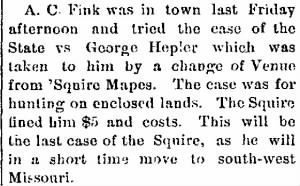 A C Fink Sep 1886 Tries Last Case Before Moving Back to Bolivar, MO.jpg