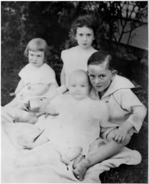 Left to Right Josefa Hermine Johnson, Rebekah Luruth Johnson, Sam Johnson, Lyndon B. Johnson.jpg