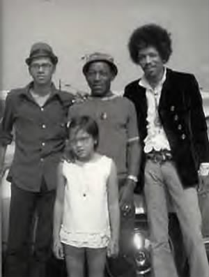 Jimi Hendrix With Father Al Hendrix, Brother Leon & Step-Sister Janie, ...jpg