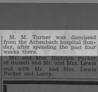 M.M. Turner -- Achenbach Hospital