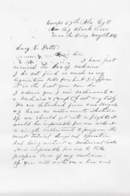 1863 Request for Surgical Instruments, page 1