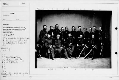 Mathew B Brady Collection of Civil War Photographs › B-5152 Gen. Francis Preston Blair, and Staff of - Fold3.com