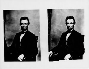 [BLANK] Abraham Lincoln