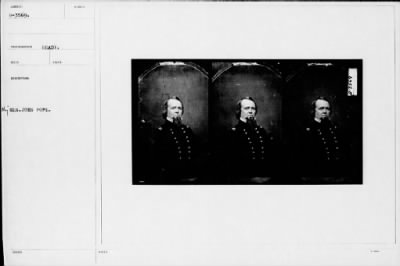 Mathew B Brady Collection of Civil War Photographs › B-3569 Maj Gen. John Pope. - Fold3.com
