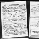 Richard Birkes WW 1 Draft Card