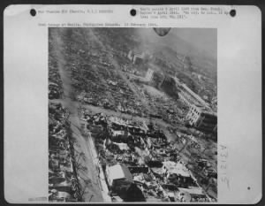 Fold3 Image - Bomb damage at Manila, Philippine Islands
