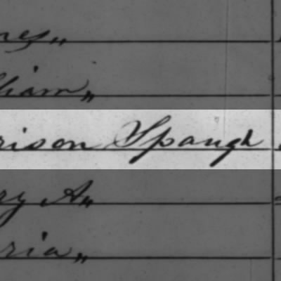 A deserter in the war, appears on census twice