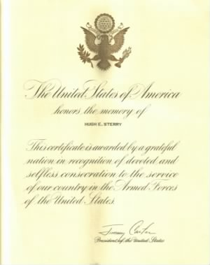 "Hugh E. Sterry Presidential ""In memory of"" letter.jpg"