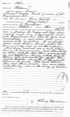 Anthony Weyershousen of Williams county Ohio statement on his fathers death on their service during Civil War.jpg
