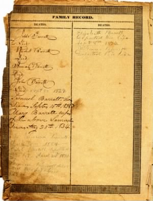 Bible of Samuel C. Barrett, Sr. (1758-1838), page 2.jpg