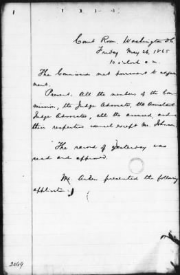 Proceedings of the Court-Martial May 26-29, 1865 › Page 2 - Fold3.com