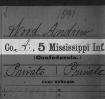 Company A, 5 Mississippi Infantry