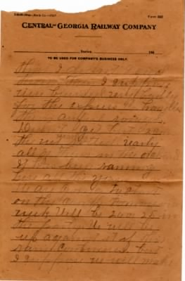 Letter from Dolph Barker to Lois Link - 2 August 1909