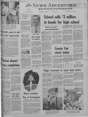 1969-Jul-21 Harlan News-Advertiser, Page 1