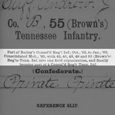 """Company B of the 55TH (BROWN""""S) INFANTRY was formally"""
