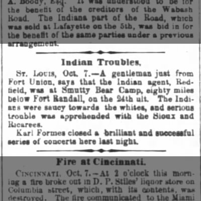 Indian Troubles