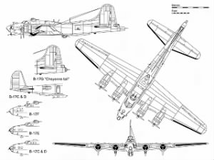 3-view of B-17